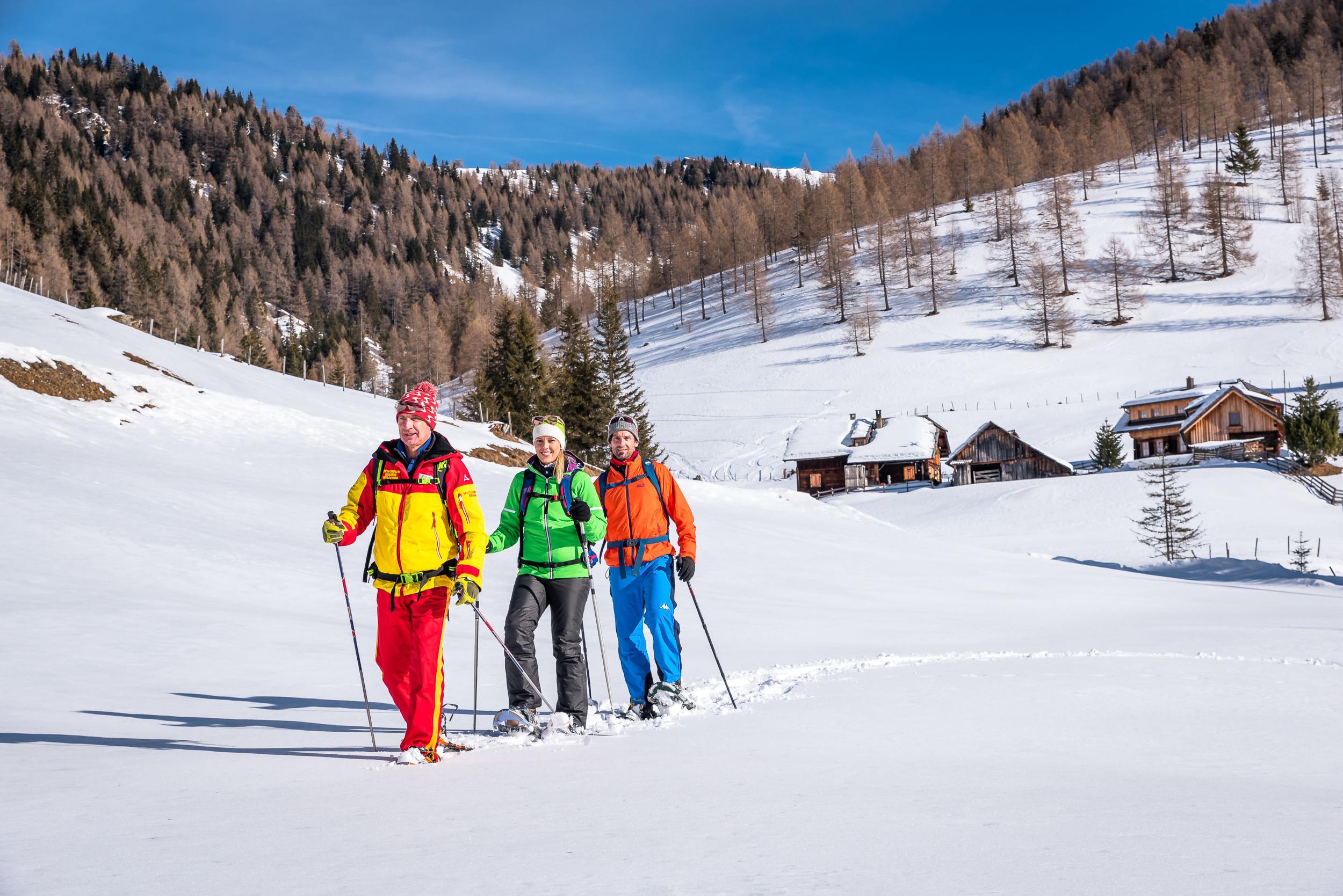 Schneeschuhwandern in der Region Bad Kleinkirchheim in Kärnten, Winterurlaub an der Alpen Südseite