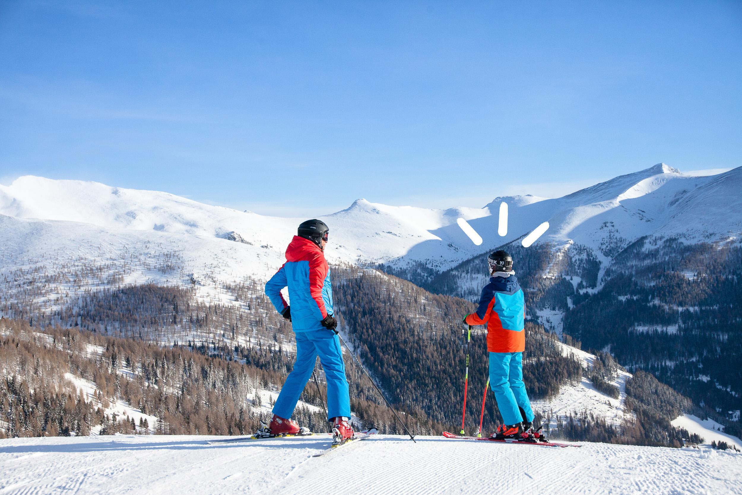 Winterurlaub in Bad Kleinkirchheim: Skifahren auf der Alpensüdseite von Österreich in Kärnten